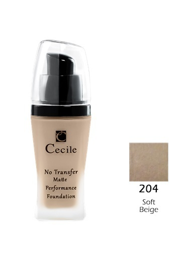 Cecile No Transfer Matte Perf. Foundation  204 Ten
